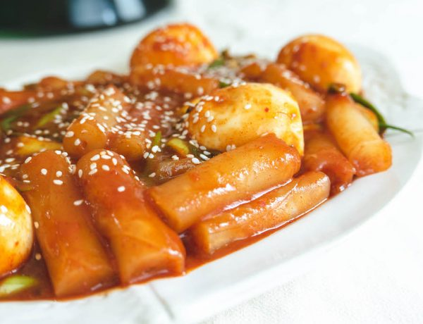tokbokki bằng bánh tráng